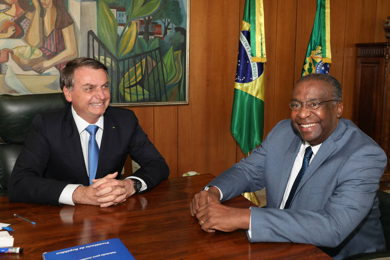 Presidente Jair Bolsonaro e Carlos Alberto Decotelli