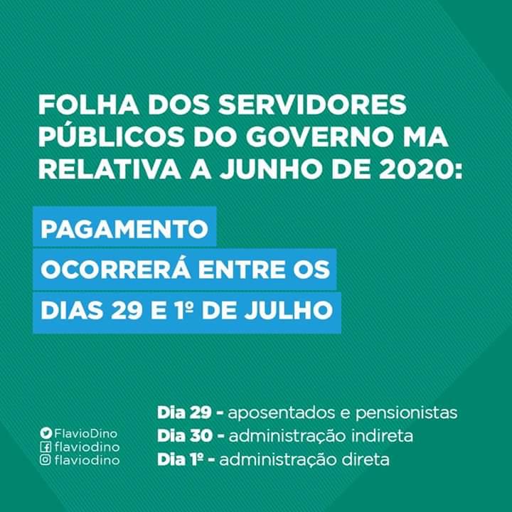 Data de pagamento dos servidores do Estado do Maranhão