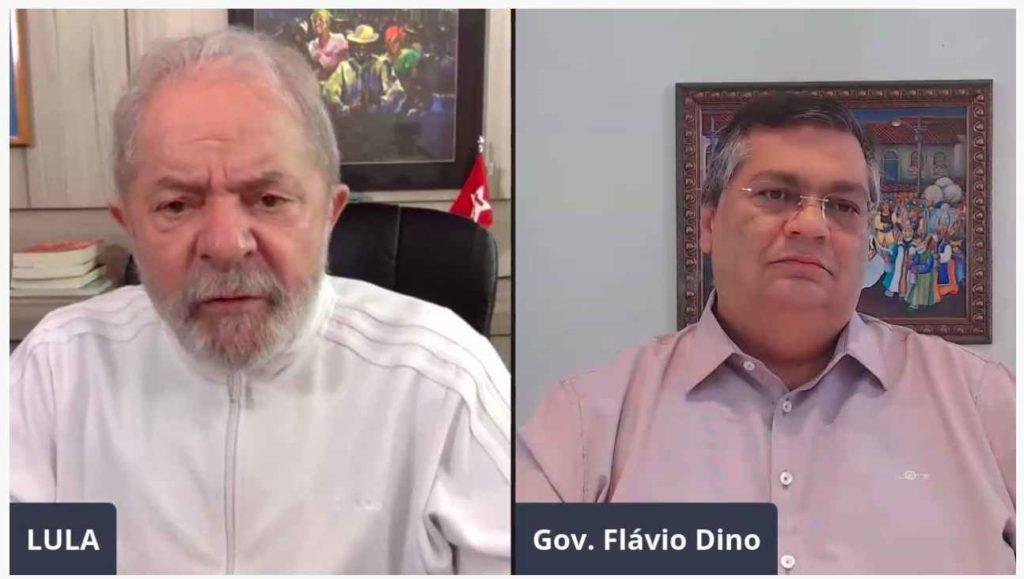 Ex-presidente Lula e o governador Flávio Dino