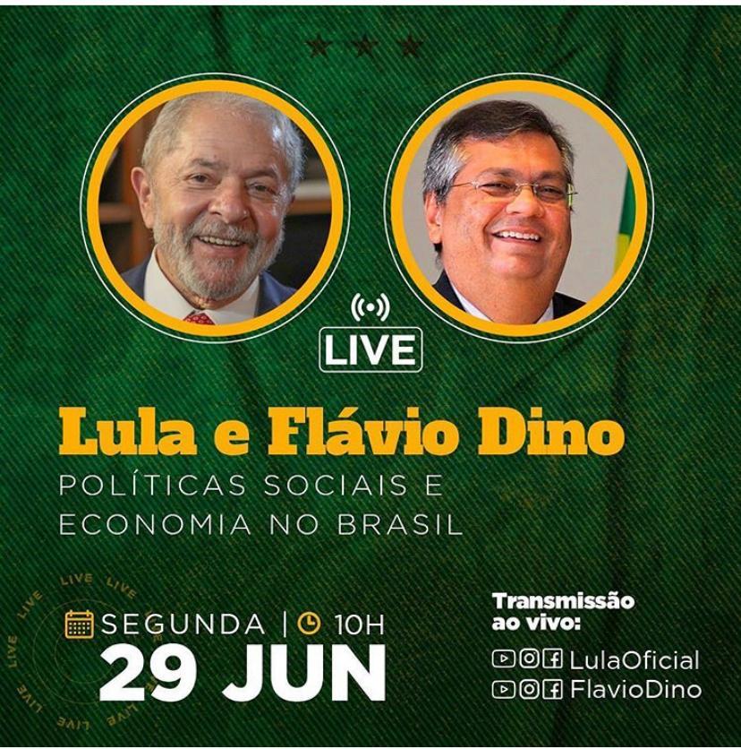 Live de Lula e Flávio Dino