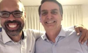 Allan dos Santos e o presidente Bolsonaro