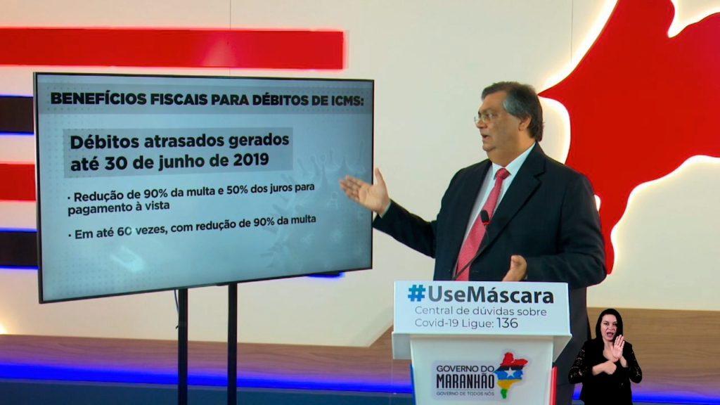 Governador Flávio Dino em entrevista coletiva