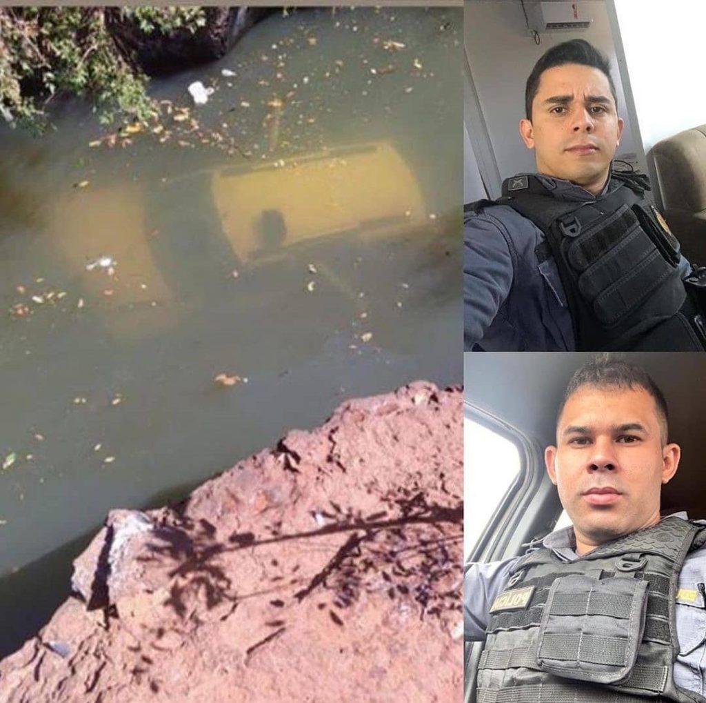 Policiais militares em ato heroico no Maranhão