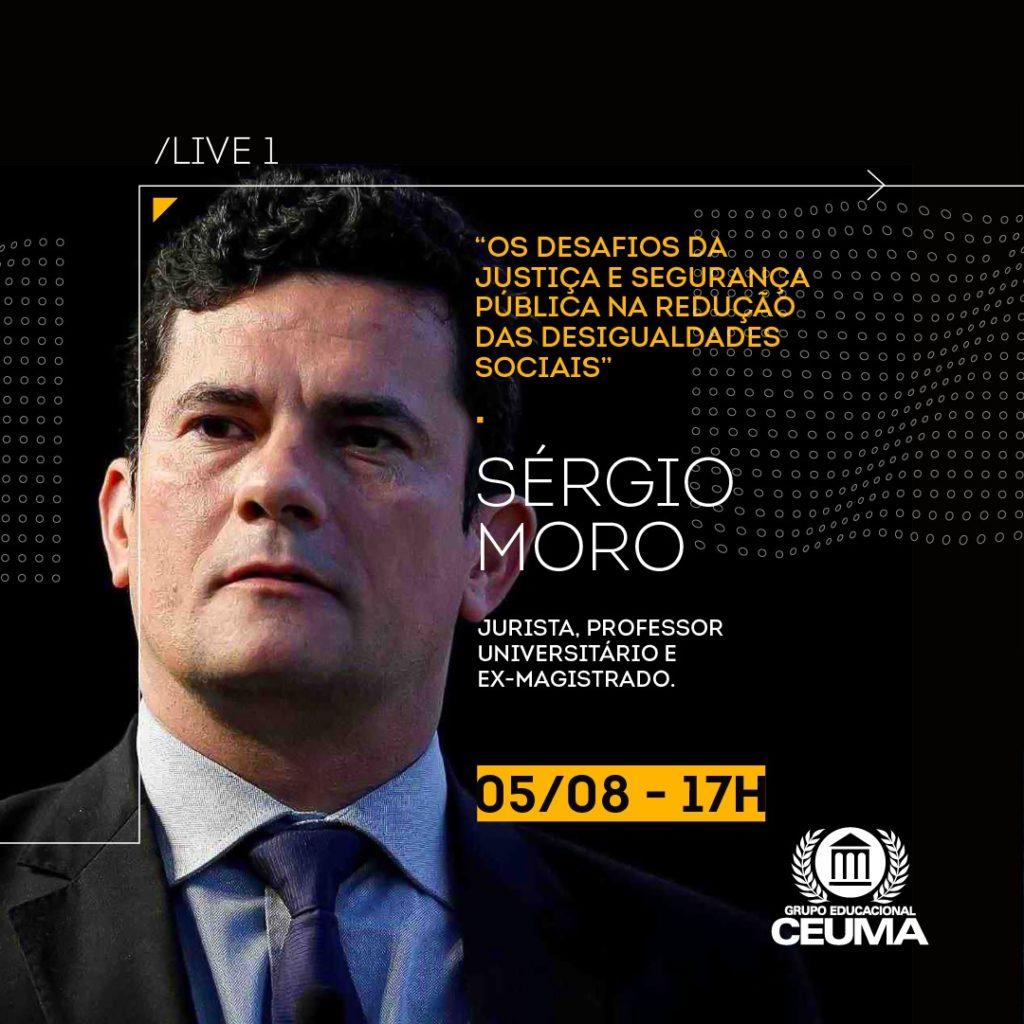 Palestra on-line com Sergio Moro. Foto Divulgação