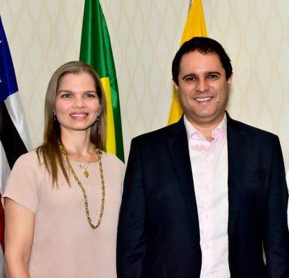 Natália Mandarino e o prefeito Edivaldo Holanda Jr