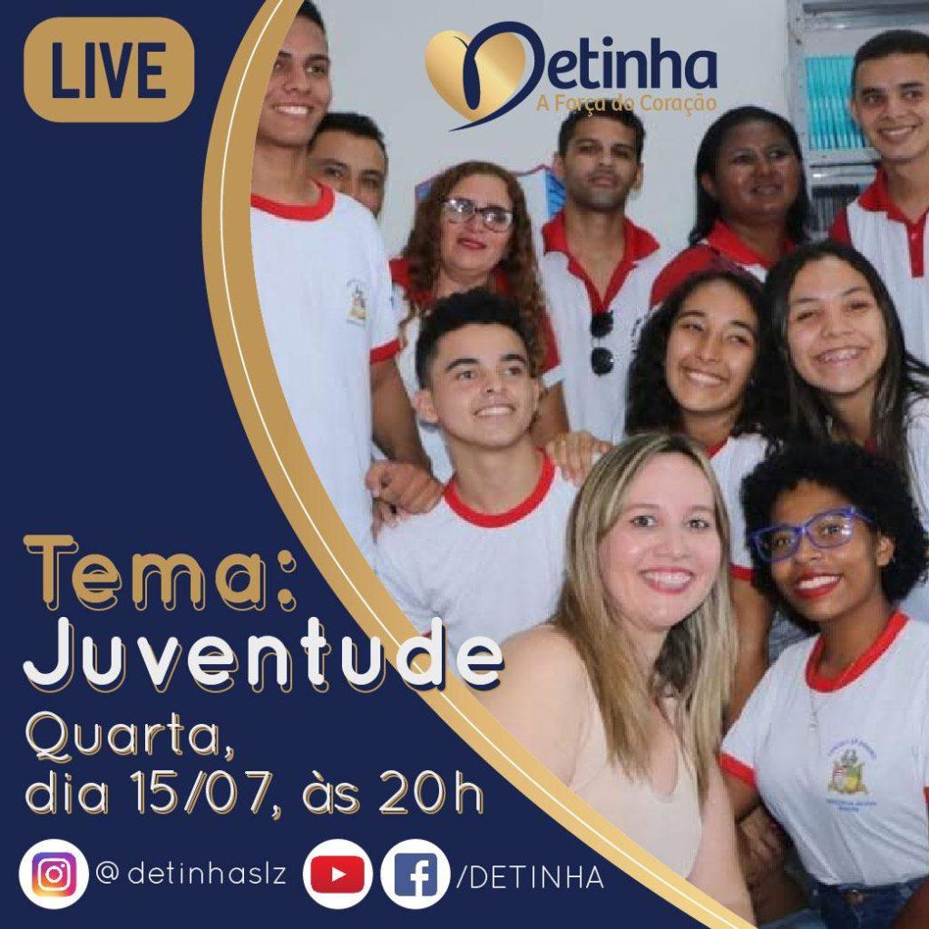 Live de Detinha. Foto Divulgação