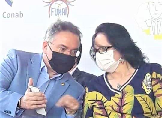 Senador Roberto Rocha e a Ministra Damares Alves