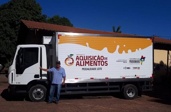 Caminhão Baú doado para a APLEC de Codó