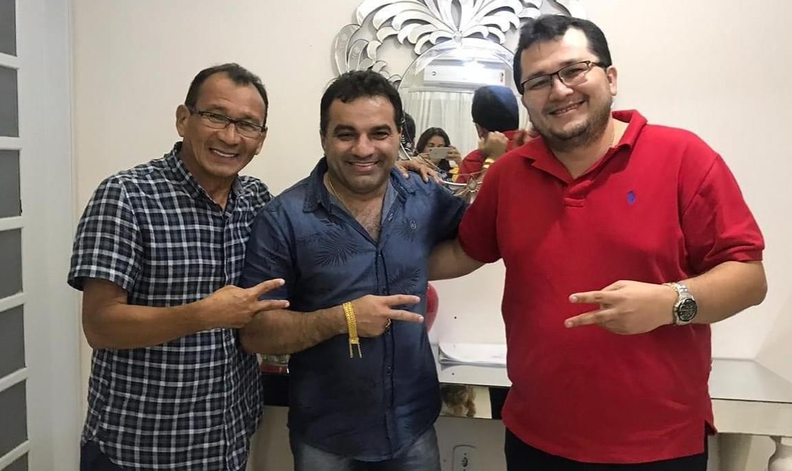 Prefeito Walmir Amorim, deputado Josimar Maranhãozinho e o pré-candidato Flávio Amorim