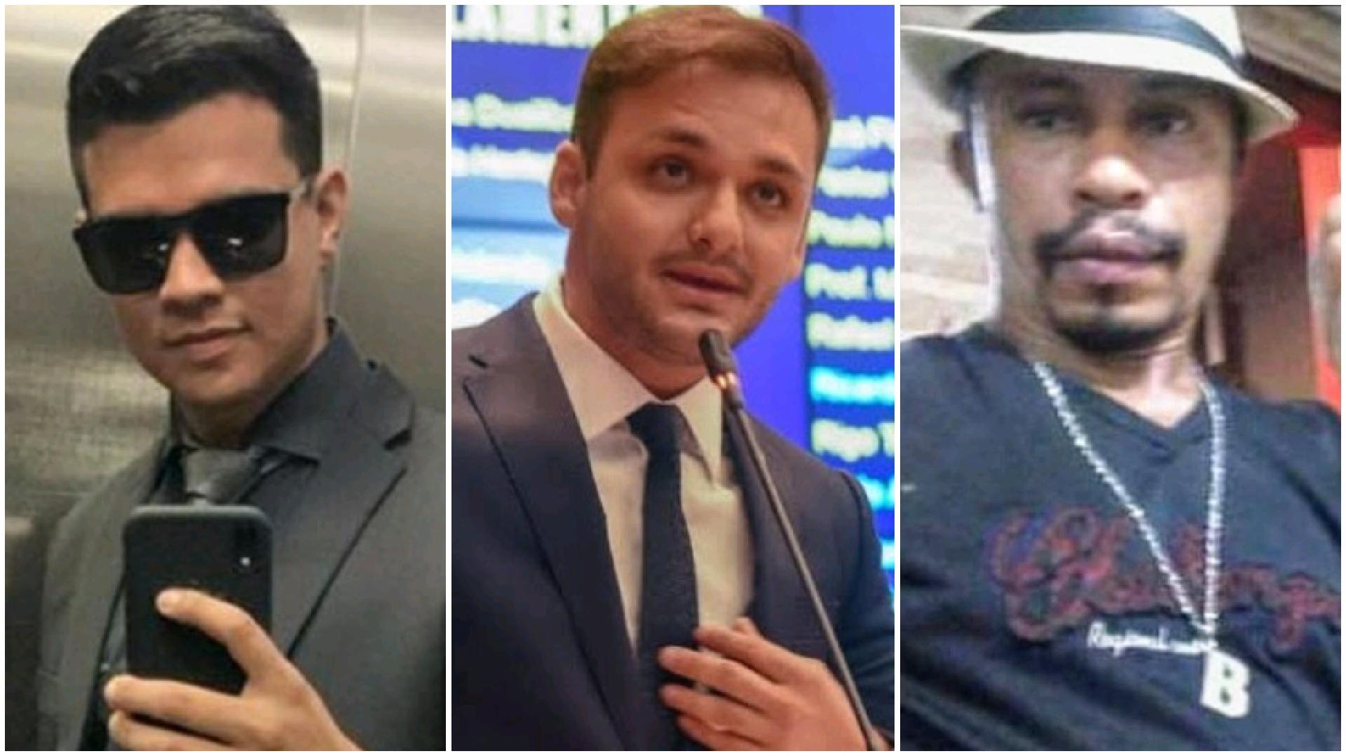 Raelson (assessor e segurança preso), deputado Felipe dos Pneus e o 'Coveiro' (desaparecido)