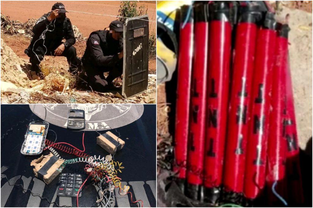 Policiais do GOE desativaram o artefato explosivo