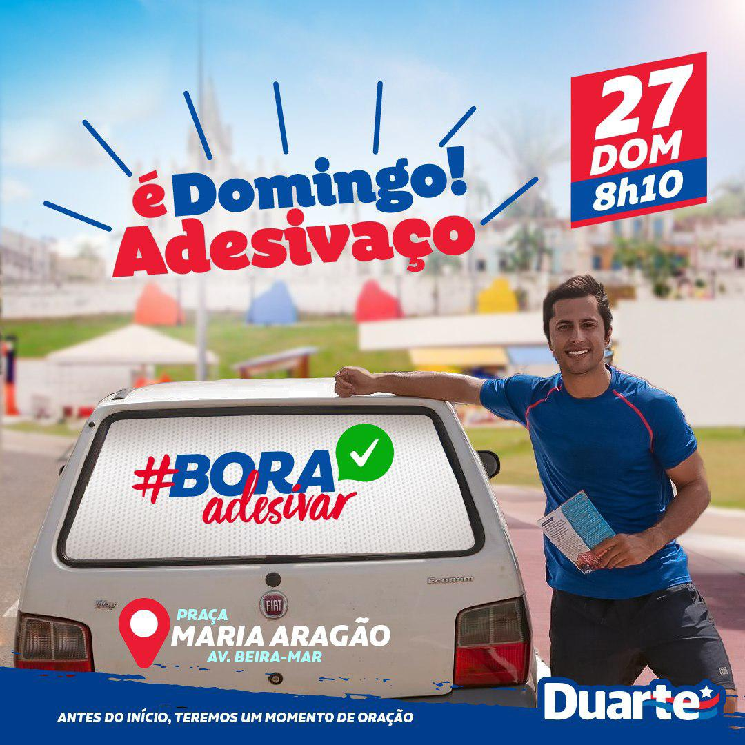 Adesivaço de Duarte Jr em São Luís