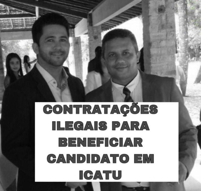 Glaudson Oliveira com o prefeito de Icatu, Dunga
